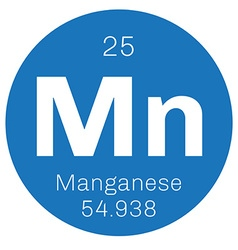 Manganese chemical element vector image vector image
