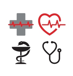 Medical symbol icons vector image