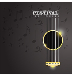 Music Festival poster concept vector image
