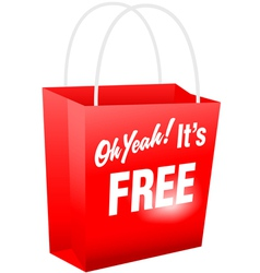 Retail giveaway oh yeah its free red shopping bat vector