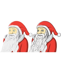 Santa Claus set isolated on white Background vector image