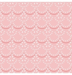 Seamless pattern of pink fabric lace ribbons vector