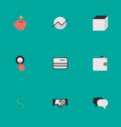 Set of simple job icons elements diagram finger vector