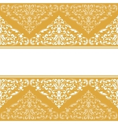 Vintage pattern for invitation or greeting card vector image vector image