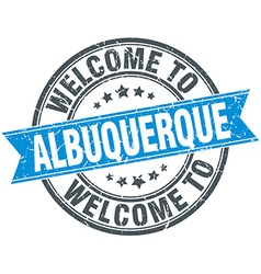 Welcome to albuquerque blue round vintage stamp vector