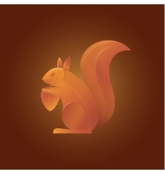 Squirrel in shades of orange vector