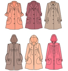 Raincoats vector