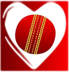 Love cricket vector