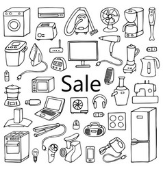 Sale household set vector
