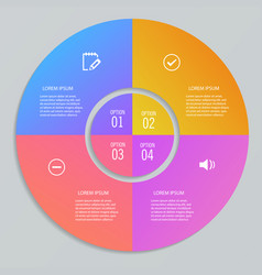 infographic templates in shape of circle vector image