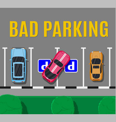 Bad or wrong car parking vector