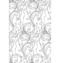 Monochrome floral seamless pattern with the words vector