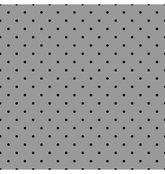 Tile pattern with black polka dots grey background vector image