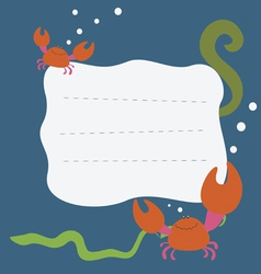 Card with crabs vector