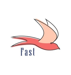 Flying swallow isolated abstract silhouette vector