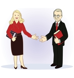 Full length business couple vector