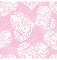 Seamless love background from heart shaped butterf vector