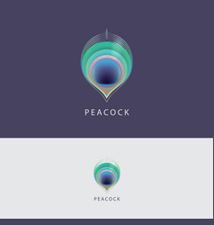 Peacock feather logo vector