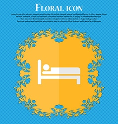 Hotel floral flat design on a blue abstract vector