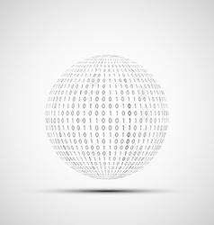 Ball of binary code vector image