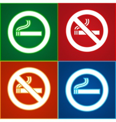 No smoking area labels vector