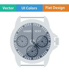 Flat design icon of watches vector