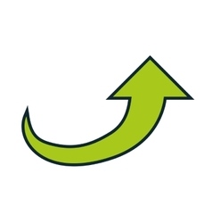 Green arrow icon direction design graphic vector