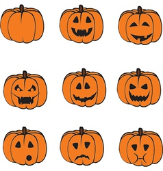 A set of pumpkins vector image