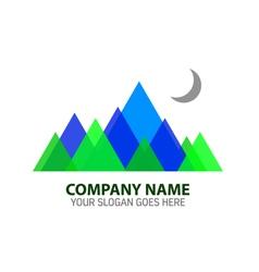 Abstract mountain logo template vector