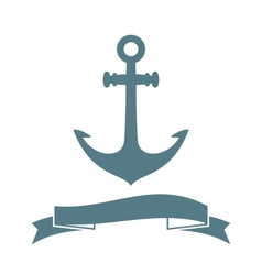 Anchor badge vector image