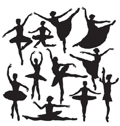 ballet silhouette vector image vector image