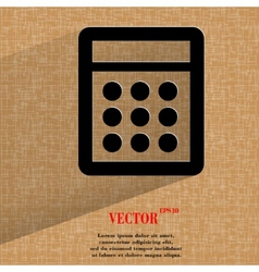 calculator Flat modern web design on a flat vector image