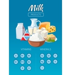 Dairy products infographics vector image