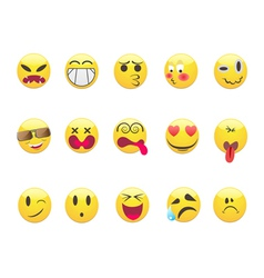 Emoticons set vector image