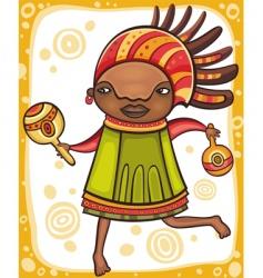 ethnic girl vector image