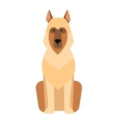 Flat dog pet sitting cute vector image