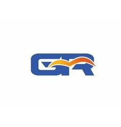 Gr letter logo vector