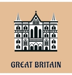 Great britain landmark flat icon vector