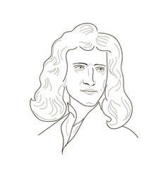 Isaac newton sketch vector