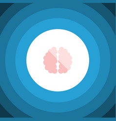 Isolated brain flat icon imagination vector