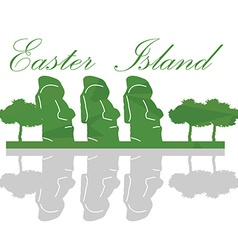 Isolated easter island landscape vector