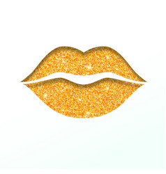 lips icon with glitter effect isolated on white vector image