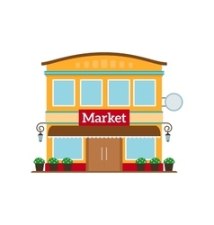 Market flat style icon isolated on white vector image vector image