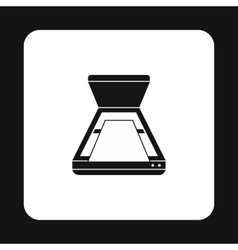 Open scanner icon in simple style vector