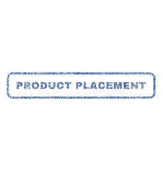 product placement textile stamp vector image vector image