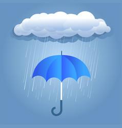 rain dark clouds with umbrella vector image vector image