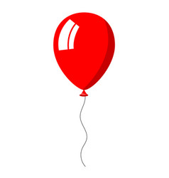 red balloon on white background vector image vector image