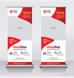 Roll up sale banner design template vector
