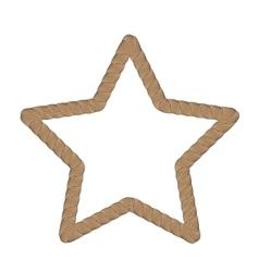 Rope creative ornamental star frame vector