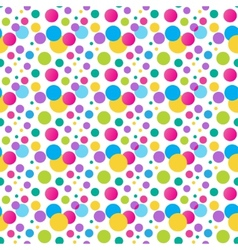 Seamless variegated polka dot pattern eps10 vector